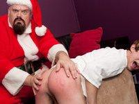 Santa Spanks a Bad Boy