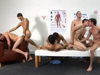Raw gangbang at the clinic